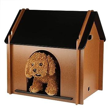 Amazon.com: GOTOTOP casa de mascotas de madera, plegable ...