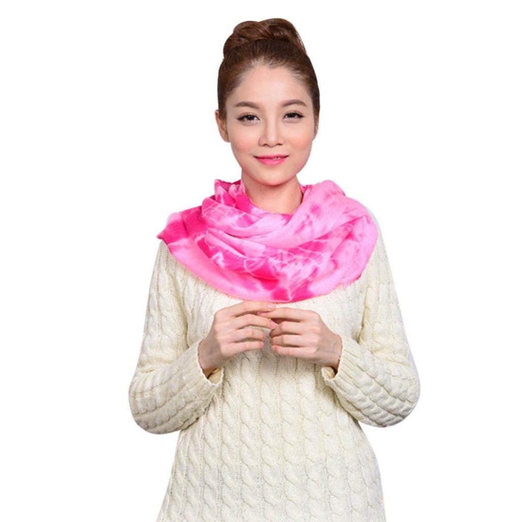 d639fecb8cca3 Amazon.com: Ecurson Women Winter Warm Infinity Knit Cowl Neck Faux Cashmere  Scarf Shawl (A): Clothing