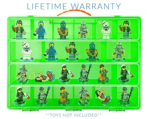 Guardian Side Box Boards (Video Game Mini Figure Organizer- Fits 30 Lego Dimensions TM Figures- Large Case and Carrying Handle)