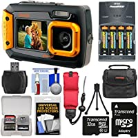 Coleman Duo 2V9WP Dual Screen Shock & Waterproof Digital Camera (Orange) with 32GB Card + Batteries & Charger + Case + Float Strap + Kit Basic Intro Review Image