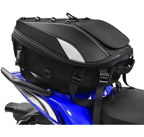 knowledgi Bolso del Asiento Trasero para Motocicletas Equipaje Herramientas Tanque de Combustible Parte Trasera Bolso Impermeable Morral Bolso Viaje para Motocicleta Bolso