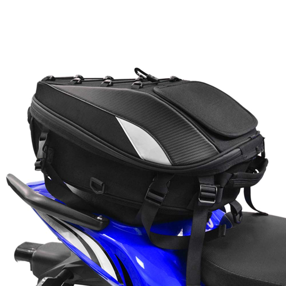 Motorcycle Seat Bag Tail Bag - Dual Use Motorcycle Backpack Waterproof Luggage Bags Motorbike Helmet Bag Storage Bags by Unknown