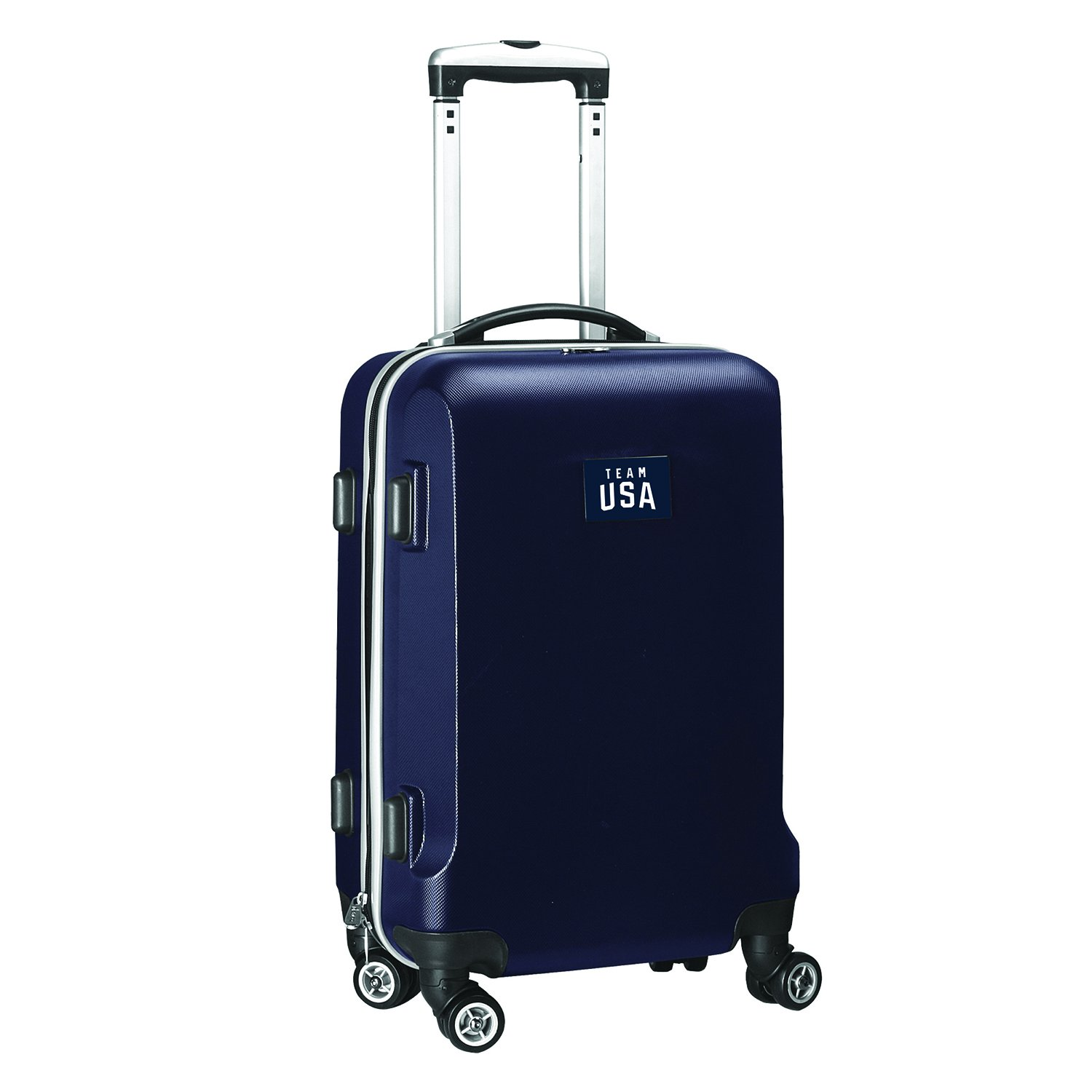 Team USA Olympics Carry-On Hardcase Spinner Luggage, Navy by Denco
