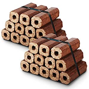 X24 Premium Eco Wooden Heat Logs Pack. Fuel for Firewood,Open Fires, Stoves and Log Burners - Comes With THE CHEMICAL HUT® Anti-Bacterial Pen! by The Chemical Hut