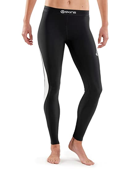 8918e4853e84f2 Skins Womens DNAmic Women's Thermal Compression Long Tights, Black/Cloud,  Medium