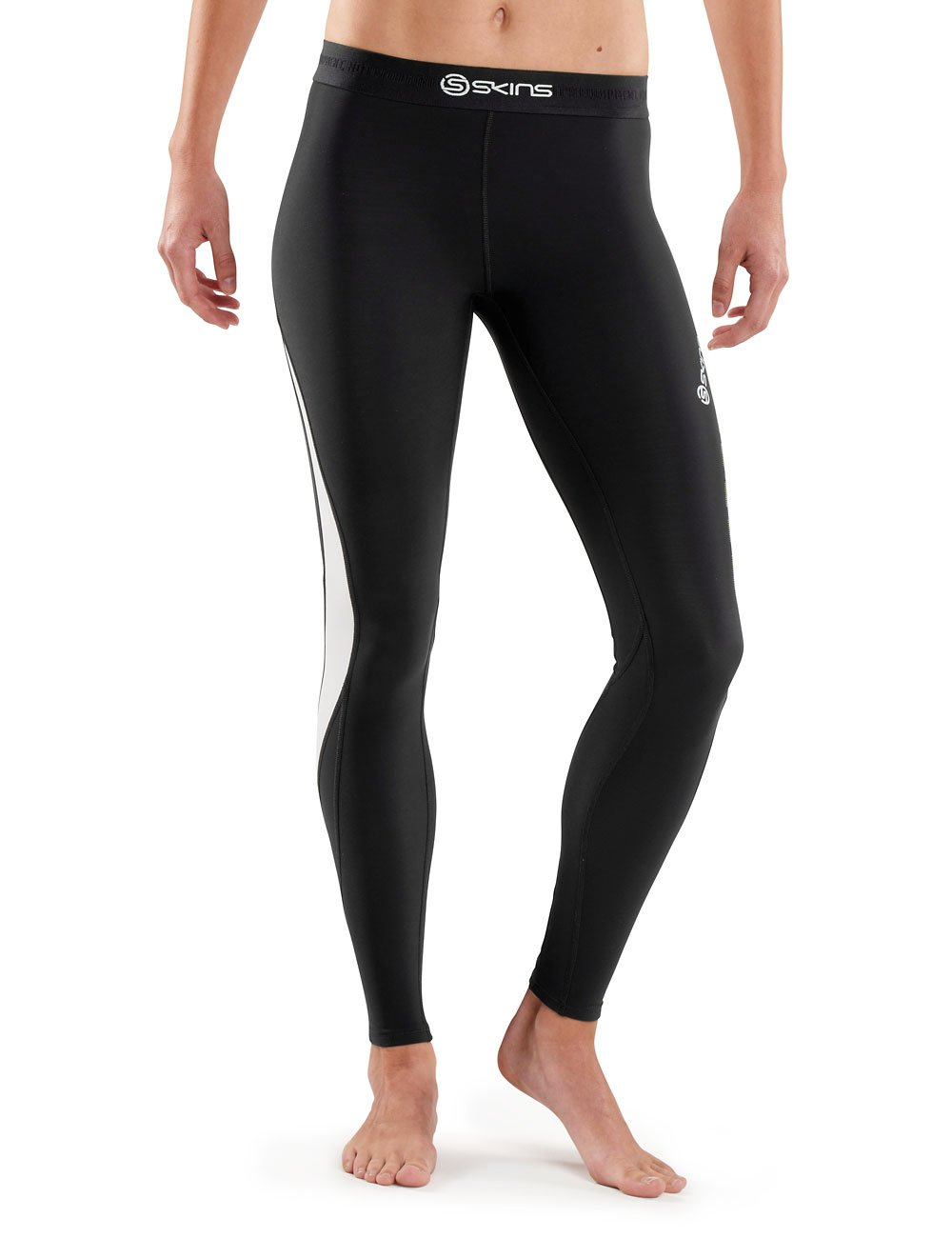 Skins Womens DNAmic Women's Thermal Compression Long Tights, Black/Cloud, Medium