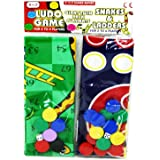 2 traditional family games Giant Ludo and Giant Snakes and Ladders by Jesters