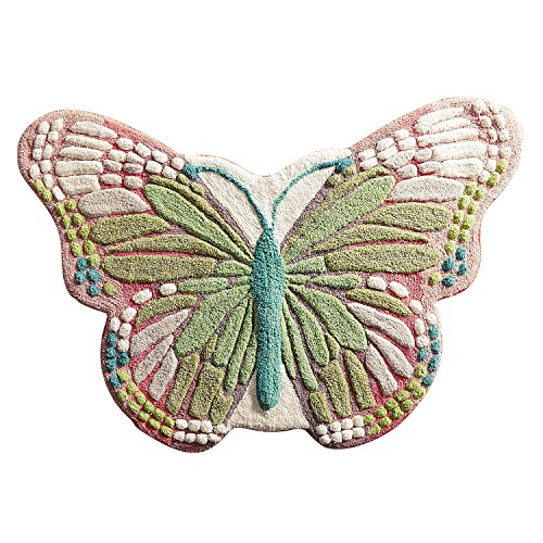Pier 1 Imports Butterfly Bath Rug Bathroom Shower Mat by Pier 1 Imports