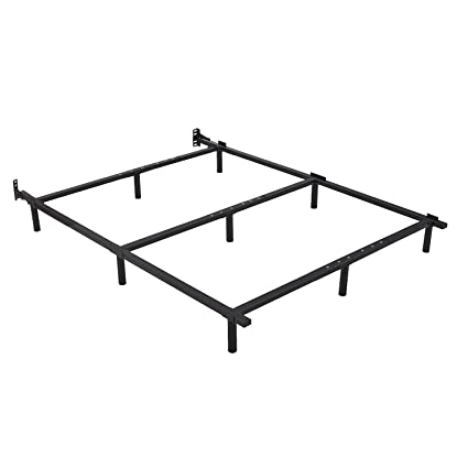 Amazon.com: ZIYOO 7 inch Adjustable Metal Bed Frame Base for Box ...