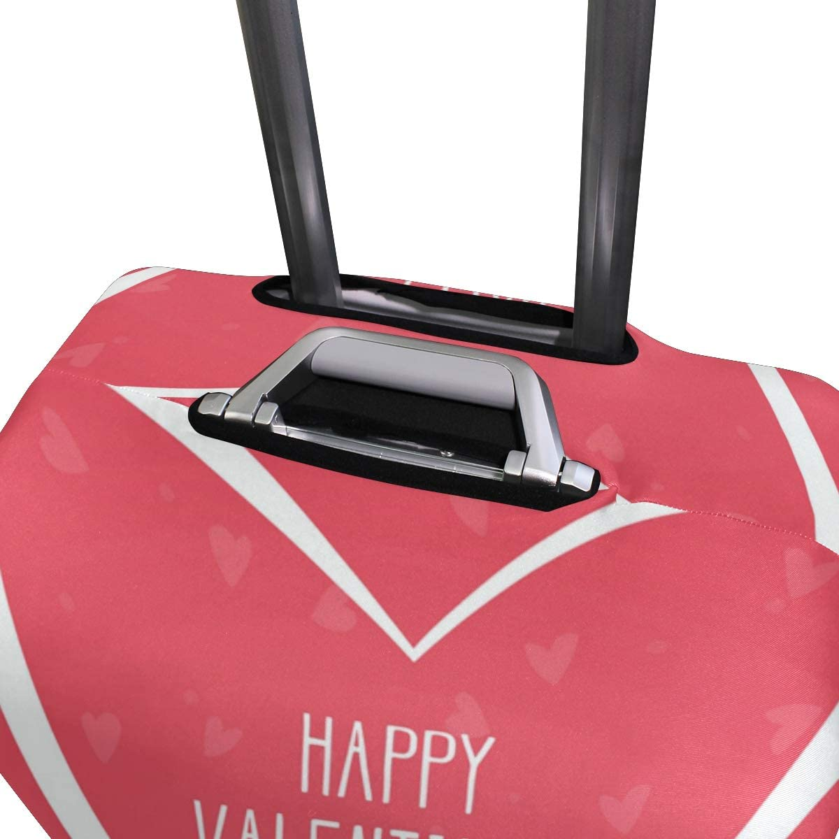 FOLPPLY Happy Valentines Day Love Pug Luggage Cover Baggage Suitcase Travel Protector Fit for 18-32 Inch
