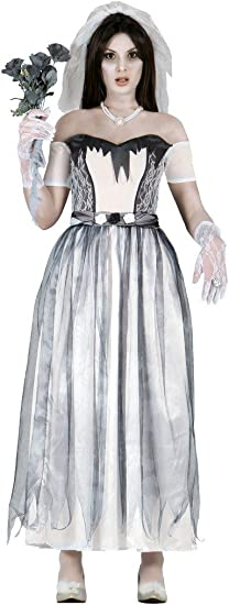 Disfraz de novia fantasma adulta talla L (42-44): Amazon.es ...