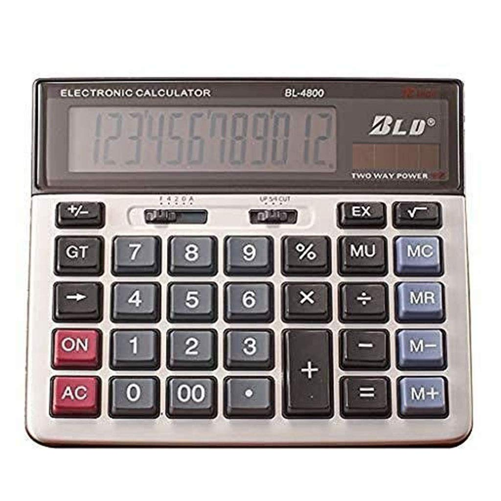Calculator Battery Basic Calculator Battery Dual Power Office Calculator Large Display and Big Button Office Calculator Vineyard (Color : 2A) by Vineyard
