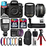 Holiday Saving Bundle for D810 DSLR Camera + 18-140mm VR Lens + 35mm 1.8G DX Lens + Battery Grip + 6PC Graduated Color Filer Set + 2yr Extended Warranty + 32GB Class 10 - International Version