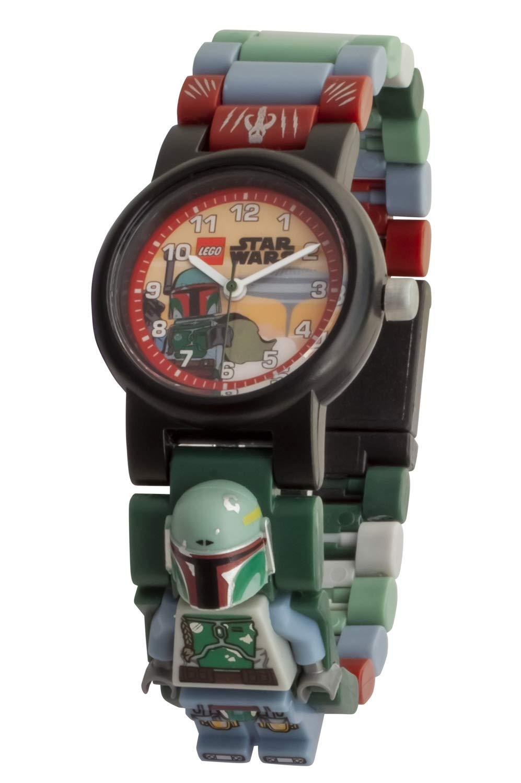 LEGO Watches and Clocks Boy's 'Star Wars Boba Fett' Quartz Plastic Casual watch, Color:Blue (Model: 8021513)