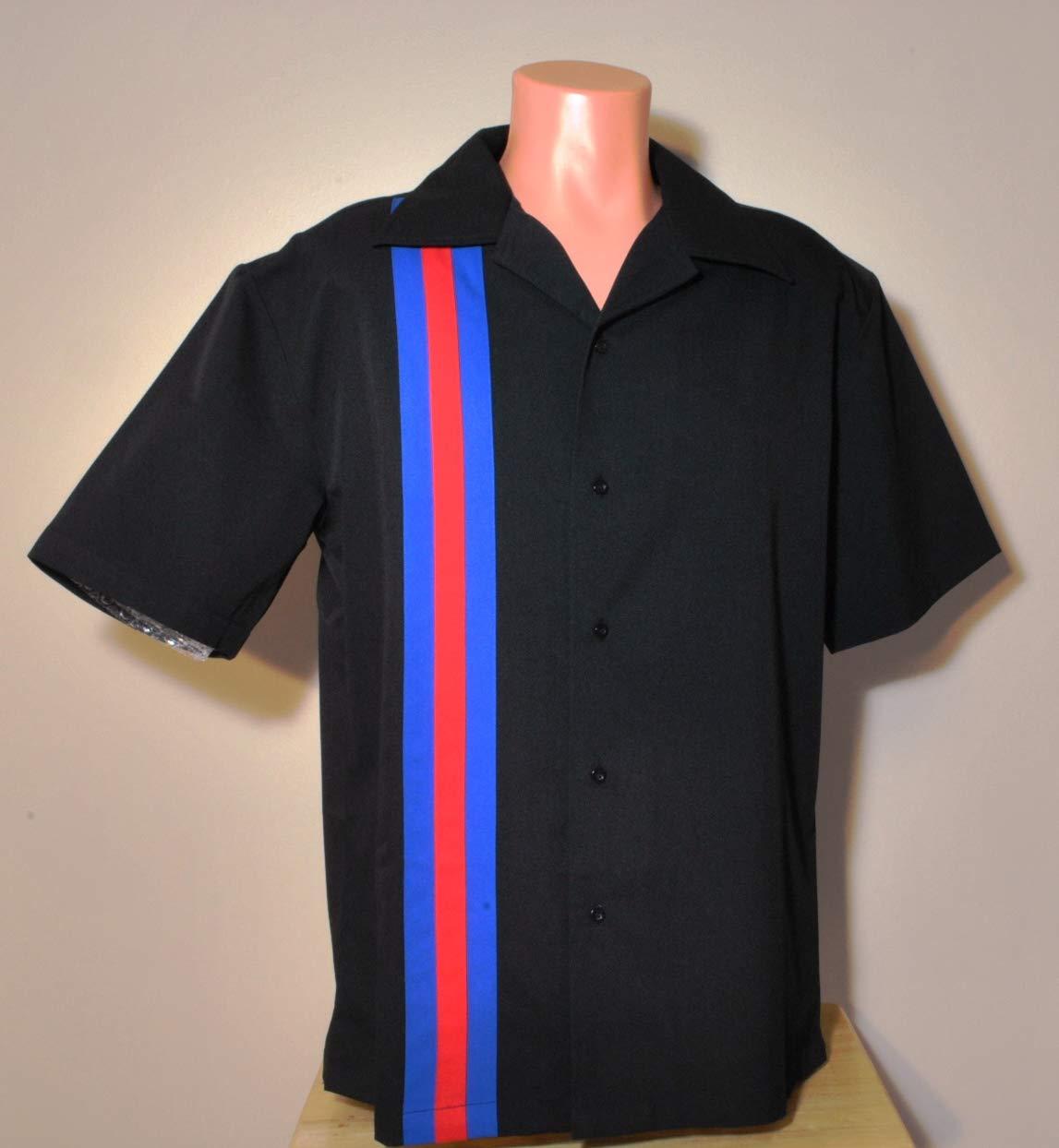 Designs by Attila Mens Leisure Bowling Shirt, 50's Style. Size 2XLT Tall USMC by Designs by Attila