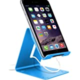 Barsone Phone Desktop Stand, Solid Aluminum Holder Dock for iPhone 7 iPhone 7 Plus iPhone 6 6s iPad 2,iPad 3 iPad 4,iPad Mini ,iPod touch Samsung Galaxy S3 i9300 S4 I9600 9500 Note 2 Note 3 Note 4 HTC LG Blackberry and other Tablets (Blue)