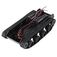 Kit de DIY Châssis de Tank Robot Voiture à Chenilles Intelligente Bricolage Absorption de Choc Légère avec Motor Universel 130 pour Arduino