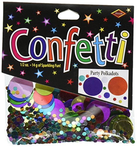 - Beistle CN122 Party Polkadots Confetti, 1/2-Ounce