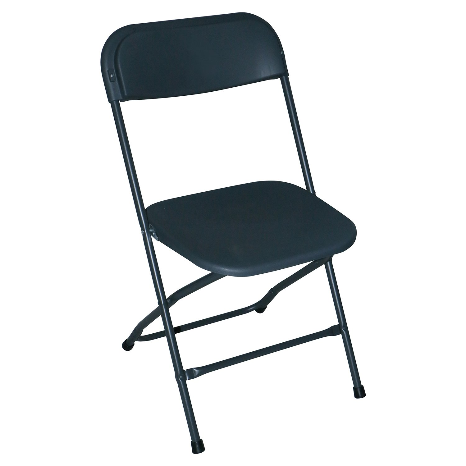 BORELAX 8 Pack Commercial Plastic Folding Chairs for Wedding Banquets, Parties, Graduations, Sporting Event Dark Gray