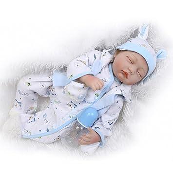 Amazon.es: Realista Dormir Reborn Muñeca 22inch 55CM Bebé niños ...