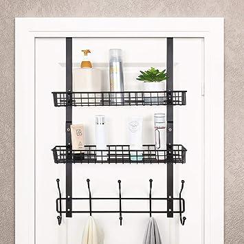 Robe Hooks Shelf Wall Door Clothes Hanger Kitchen Bathroom Rustproof Storage