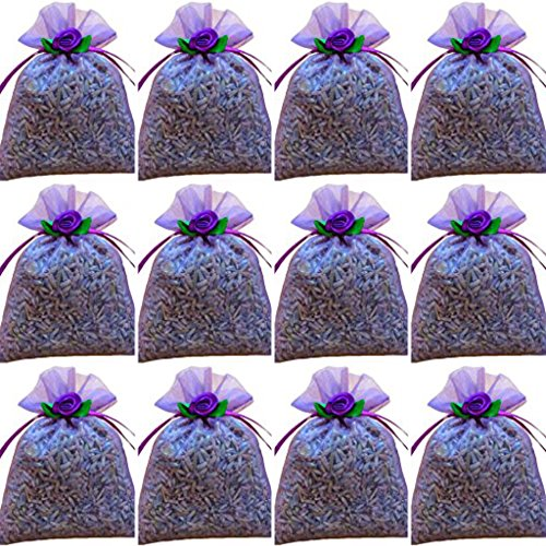 zziggysgal 12-pack 3' x 3' Organza French Lavender Filled Sachets lavender by zziggysgal