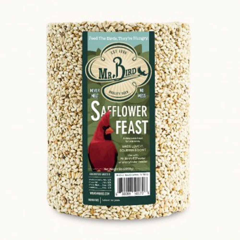 Mr. Bird Safflower Feast Large Wild Bird Seed Cylinder 5 lbs.