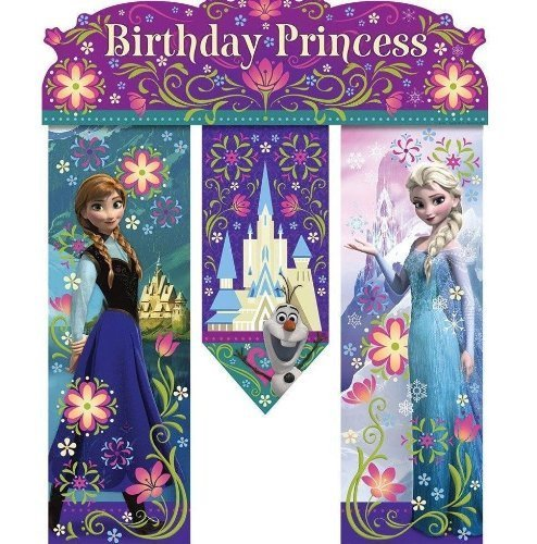 NEW Disney's Frozen Birthday Princess Party Door Banner