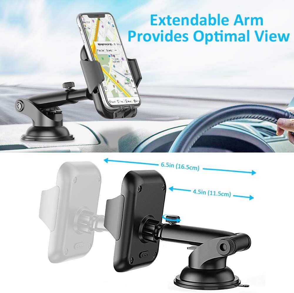 UKCOCO Supporto per Auto Lungo Braccio Flessibile cruscotto Parabrezza per Cellulare LP-3A