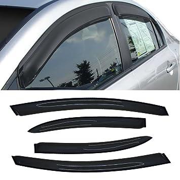 Alxiang 4pcs Front + Rear Smoke Sun/Rain Guard Vent Shade Window Visors Fit  06