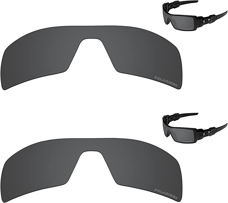 0774f941f4 Amazon.com  Performance Lenses Compatible with Oakley Oil Rig Polarized  Etched-Value Pack  Clothing