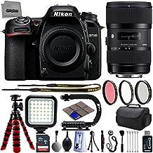 Nikon D7500 20.9MP 4K DSLR Camera w/ Sigma 18-35mm f/1.8 ART HSM Lens + 32GB - 25PC Lens Kit