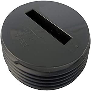 LASCO 33-3298 Countersunk Slotted ABS Black Plastic Cleanout Plug, 4-Inch