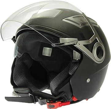 Mach1 Jet Helmet Motorcycle Helmet With Integrated Sun Visor Ece R 22 05 Size Xs To Xxl Sport Freizeit