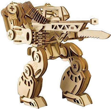 Robot 3D Rompecabezas De Madera De Color Su Propio Enigma Regalos Construcción Craft Kits De Juguetes Juego Mechanoid Bricolaje Cumpleaños Bueno For Los Niños Preescolares Educación: Amazon.es: Hogar