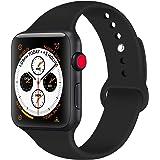 Tfheey Brand Compatible Apple Watch Correa 42mm 38mm 44mm 40mm, Silicona Blanda Deporte de Reemplazo Correas Compatible iWatch Series 5, Series 4, Series 3, Series 2, Series 1 S/M, M/L