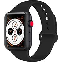 Tfheey Brand Compatible Apple Watch Correa 42mm 38mm 44mm 40mm, Silicona Blanda Deporte de Reemplazo Correas Compatible iWatch Series 5, Series 4, Series 3, Series 2, Series 1 S/M, M/L