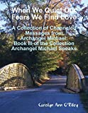 When We Quiet Our Fears We Find Love: A Collection of Channeled Messages from Archangel Michael: Book III of the Collection Archangel Michael Speaks