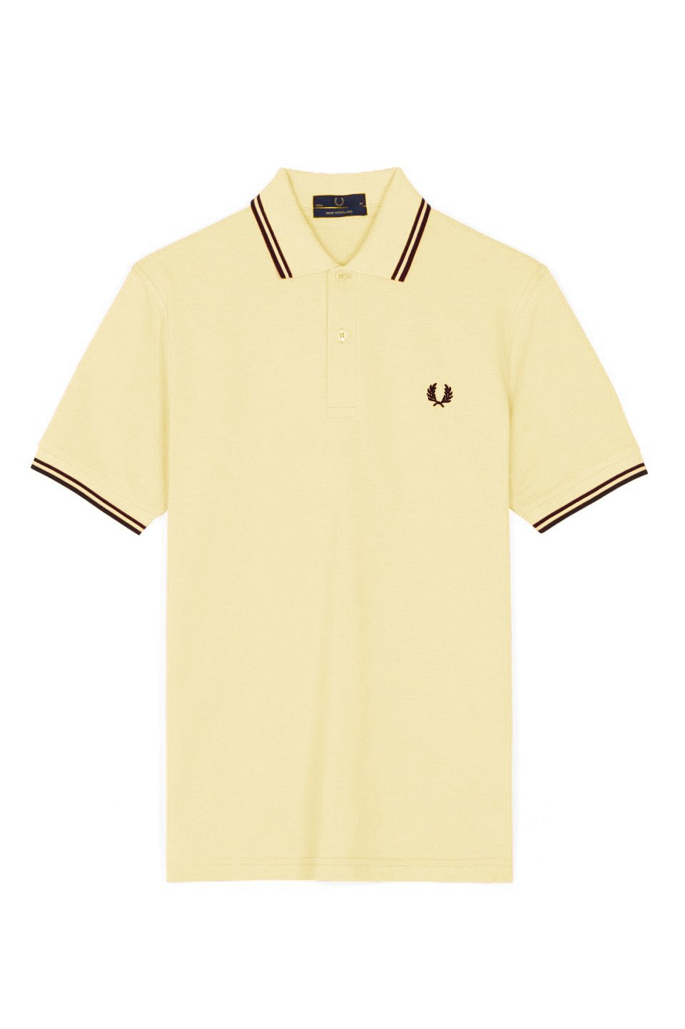 [フレッドペリー]ポロシャツ TWIN TIPPED FRED PERRY SHIRT M12N メンズ B07D1D2TB3 Medium|Lemon/Black/Black Lemon/Black/Black Medium