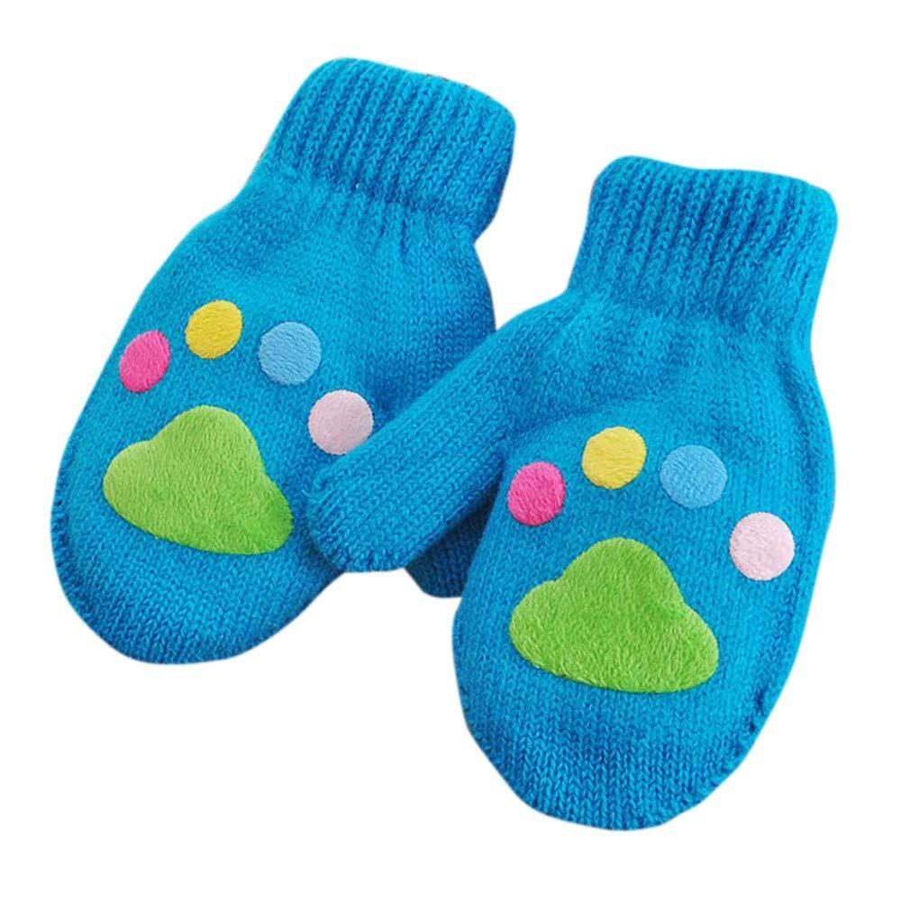 HEETEY Infant Baby Girls Boys Winter Warm Gloves, Girls Boys Winter Gloves Cute Knitted Baby Gloves For 1-6 Years Old Unisex Children Baby