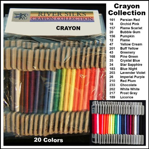 River Silks Crayon Collection - 4mm Silk Ribbons by River Silks Ribbons (Image #1)