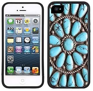 Turquoise Stones Indian Jewelry Photo Handmade iPhone 5 5S Black Case