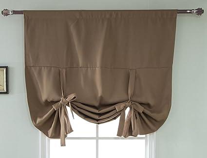 ZebraSmile Rod Pocket Curtains For Bedroom Blackout Roman Shades For Bedroom  Windows Black Out Curtain Blackout