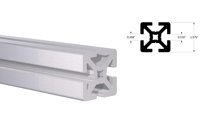 Amazon com: Orange Aluminum – 40mm T-Slot Quad Track – 4