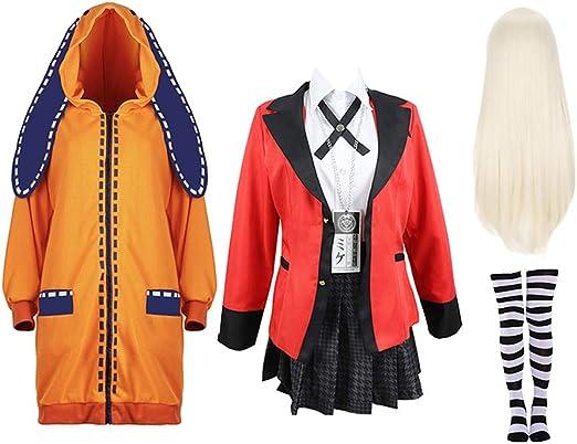 Anime Kakegurui Twin Yomoduki Runa Uniform cosplay costumes Jabami Yumeko women Stage party girl pleated skirt cosplay