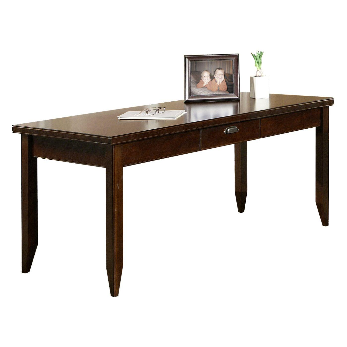 Amazon com kathy ireland home by martin tribeca loft cherry writing desk kitchen dining