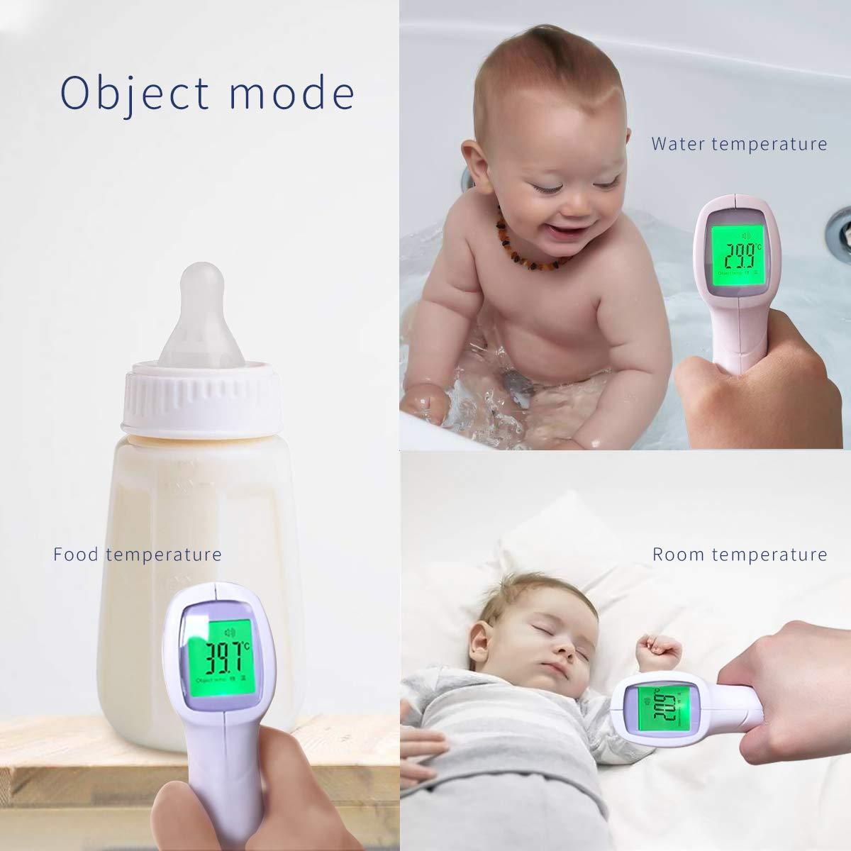 P/úrpura SONARIN Infrarrojo Sin Contacto Term/ómetro de Frente M/édico Digital para beb/és y adultos,Objeto medible,Monitoreo Cl/ínico,Lectura instant/ánea,Certificaci/ón CE y FDA