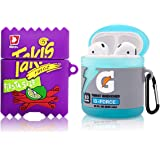 [2Pack] for Airpod 2/1 Sport Water & Takis Potato Chips Airpods Case, 3D Fun Cute Fashion Food Protective Skin Accessories Ai
