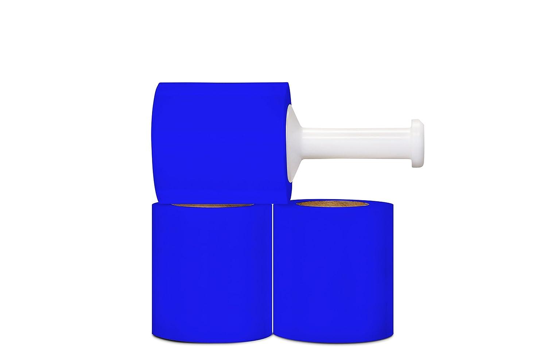 Bundling Packing Wrap 12 Pack 80 Gauge 5 Inch x 1000 Feet Blue Stretch Wrap Film