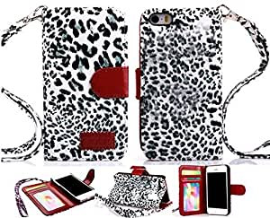 Gotida 4SLEO0032 Leopard Print Wallet Leather Case with Credit ID Card Slot For iPhone 4 4S